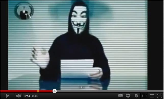 Anonymous announcing attack on Sweden